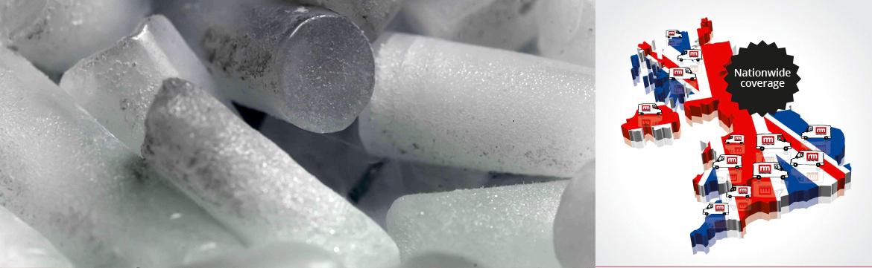 Dry ice blasting - capsules