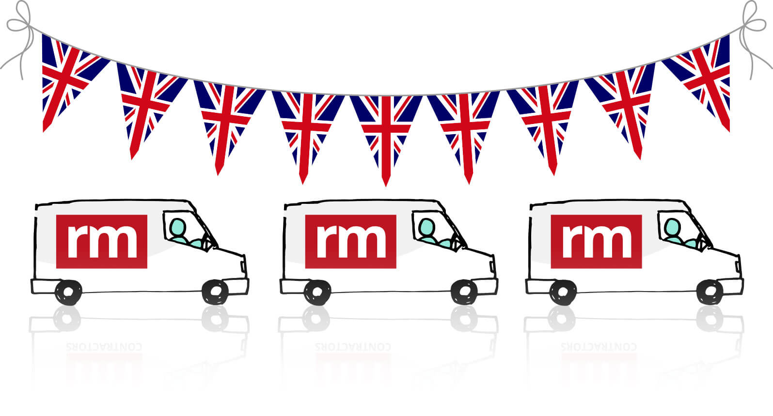 Uk-coverage-vans+bunting